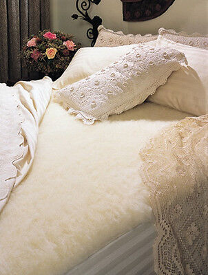 "SnugFleece Wool Mattress Cover - King size - Wash/Dry 1.5"" Pile - Elite - IRREG."