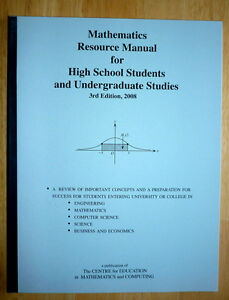 Mathematics Resource Manual for High School Students and Undergr Cambridge Kitchener Area image 1