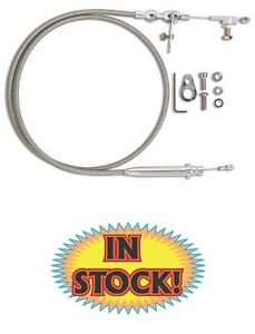 Lokar Hi-Tech Stainless Transmission Kickdown Cable Kit - Ford AOD - KD-2AODHT