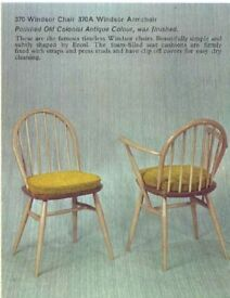 4 Vintage Ercol Dining Chairs