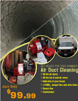Complete Air Duct Cleaning for only $100 with no hidden charges