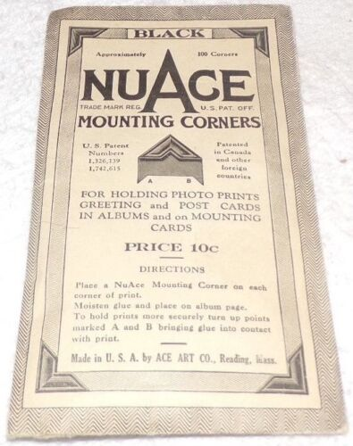 Vintage 1953 Package of Nuage Mounting Corners
