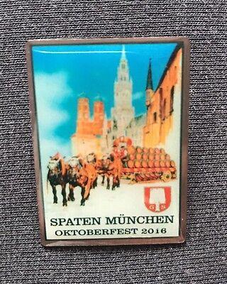 Pin der Spaten Brauerei vom Oktoberfest in München 2016