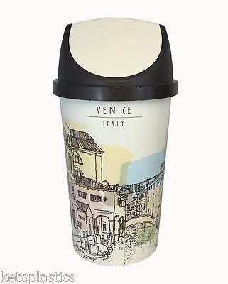 50l swing bin, poubelle de cuisine, rétro, style vintage-venise ... - Poubelle Cuisine 50l Design