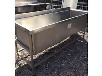 Large stainless steel catering sink / vat sink