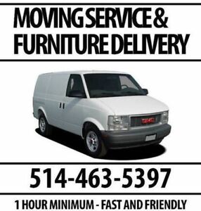 Moving and Furniture Delivery - 1-Hour Minimum