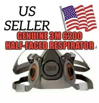 3M 6200 Half-Face Respirator (M) US seller