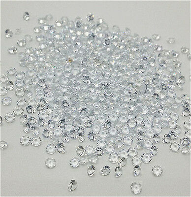1000Pcs White Birthstone Crystal Floating Charm for Glass Living Memory Lockets