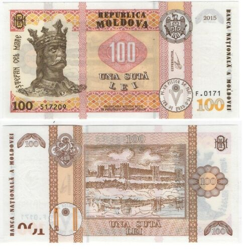 Moldova - 100 Lei 2015 / 2020 UNC New Sign. Lemberg-Zp