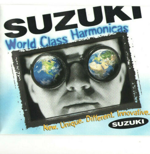 2002 SUZUKI WORLD CLASS HARMONICAS BROCHURE! SLIDER CHROMATIC! PROMASTER & MORE!