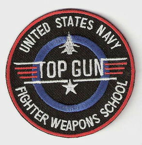TOP GUN ░ Quality  Iron On Patch Badge US NAVY WEAPONS SCHOOL  ░