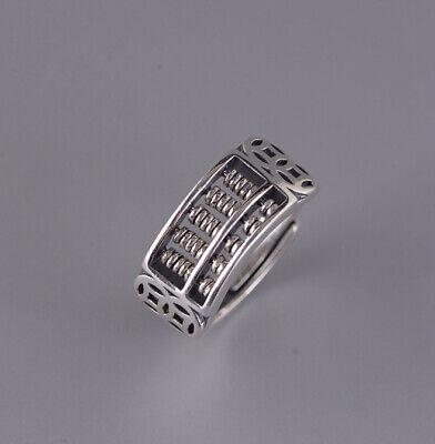 I05 Ring Made from Sterling Silver 925 Abacus Stylized Coins Adjustable Size