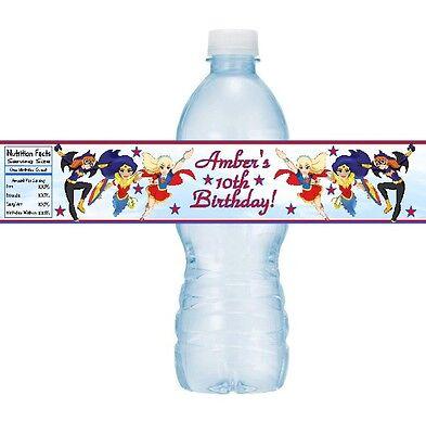 Batgirl Party Supplies (12 Supergirls Birthday Party Water Bottle Stickers Super Heros Batgirl)