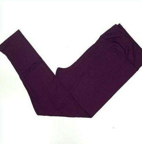 L/XL Lularoe Kids Leggings Solid Dark Purple NWT 345791