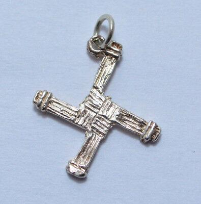 925 Sterling Silver St Brigid Cross Celtic Pendant  Charm   Made In Ireland