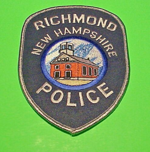 """RICHMOND  NEW HAMPSHIRE  NH   POLICE PATCH   5 1/4""""   FREE SHIPPING!!!"""