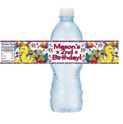 12 Sesame Street Gang Birthday Party Baby Shower Water Bottle Stickers Big Bird