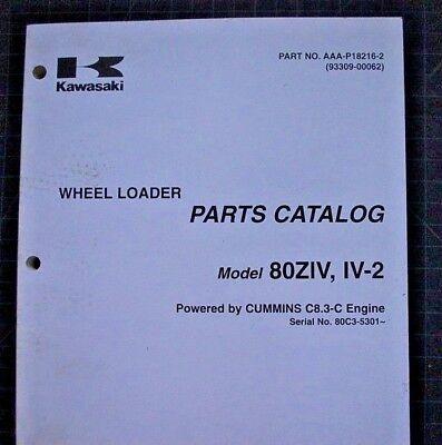 Kawasaki Wheel Loader 80ziv Parts Manual Book Catalog Spare List 2005 Front End
