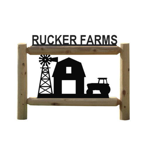 PERSONALIZED FARM TRACTOR OUTDOOR SIGN