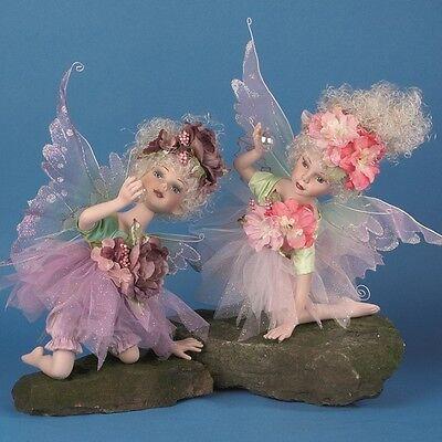 "Job Lot of 6 Vanity Fair Kneeling 20"" Porcelain Fairies (2 asstd colours)"