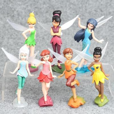 Tinker Bell Toys (1 Set of 7 Disney Princess Tinker Bell Fairies Family Assemble Figures Dolls)