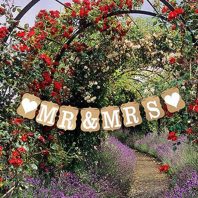 Custom Mr & Mrs Bunting Banners Card Photo Prop - Wedding Venue - Custom Wedding Banners