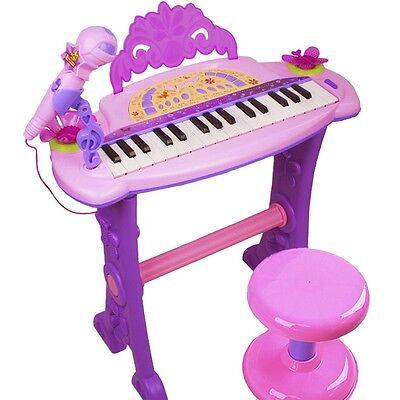Piano für Kids in lila Kinder Keyboard Spielzeug Klavier Musikinstrument Mikro