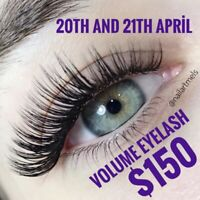 Volume eyelash extensions $150