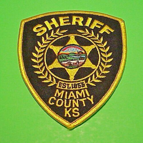 "MIAMI COUNTY  KANSAS  KS  EST. 1855   4 1/2""  POLICE PATCH  FREE SHIPPING!!!"