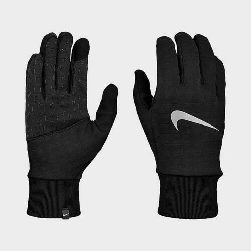 Nike Gloves Mens Large L Dri Fit Dry Sphere 3.0 Reflective Running Black