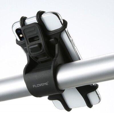 Universal Halter Motorrad Fahrrad Halterung Lenker Smartphone Handy Bike Silikon ()