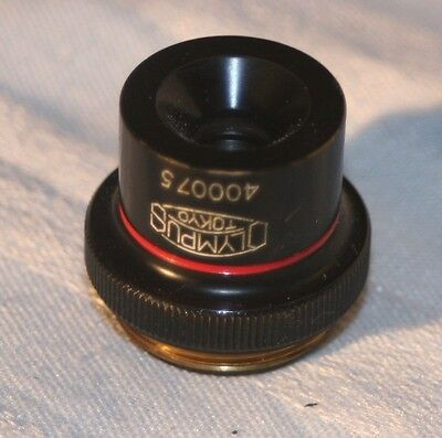 Vintage Olympus 4 .10 Microscope Objective
