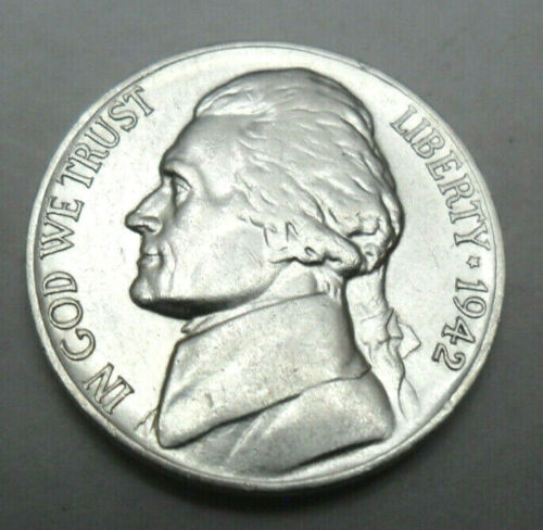 1942 P Jefferson Nickel  *35% SILVER*  *AG OR BETTER*  **FREE SHIPPING**