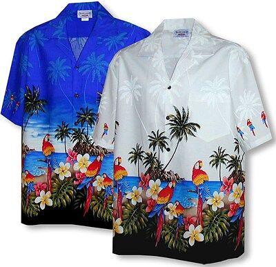 Parrots Beach Border Hawaiian Shirt