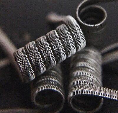 2 N80 High Resistance Half Staggerton Coils + Free Coils (Clapton, Staple
