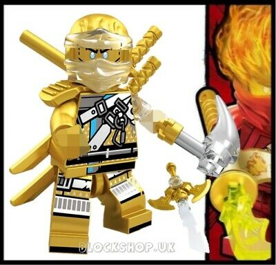 NINJAGO RARE - LEGENDARY GOLD CRYSTAL ZANE HANDS OF TIME fits lego figure (L6)