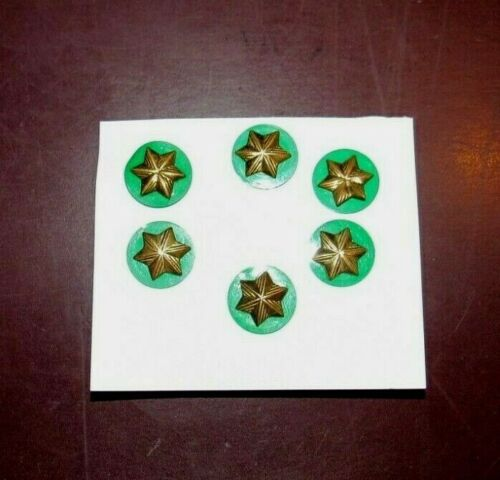 6 X PINS OFFICIAL BROWNIE Girl Scout Member STARS 1963-Current GREEN Disk Excell