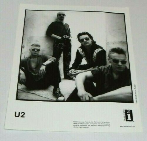 U2  - Original Vintage Record Company 8x10 Promo Photo