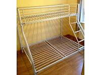 Bunk Bed - Triple Bunk - a Double bed and Single Bed - Metal Frame - As New - kids bed