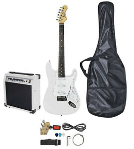 Electric Guitar Set with 20W Amplifier - White