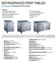 """Refrigerated Sandwich Prep Tables 48"""""""