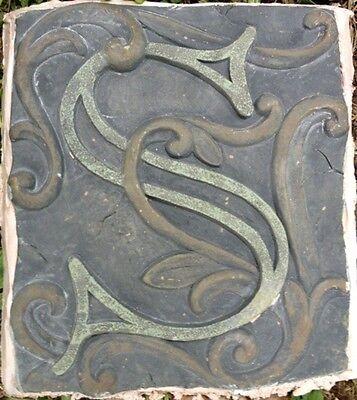 S Stone, plaque, stepping stone,  plastic mold, concrete mold, cement, plaster