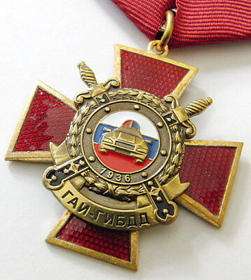 Honorary Traffic Police Officer Russian Medal Award with Document
