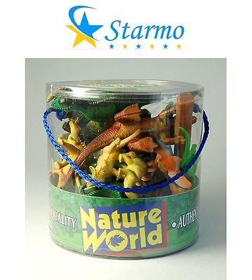 Starmo 18 Piece Dinosaurs In Tub T Rex Stegosaurus Dino Toy Play Figures