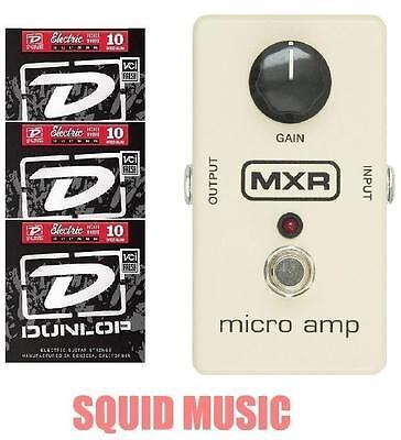 MXR Micro Amp Boost / Gain Guitar Effects Pedal M-133 M133 ( 3 STRING SETS )