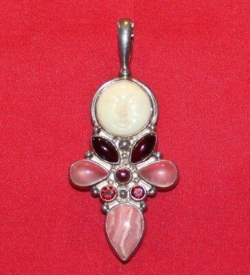 Mother Of Pearl Goddess Pendant - Sajen 925 Sterling Silver & Mother of Pearl Goddess Pendant,(2,5/8