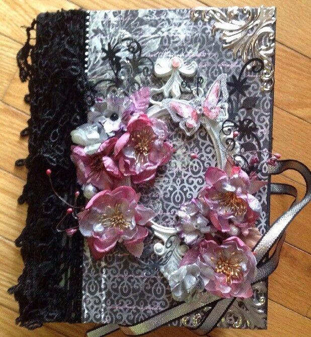 Handmade Album Using Romantique Garden Paper Collection From Heartfelt Creations