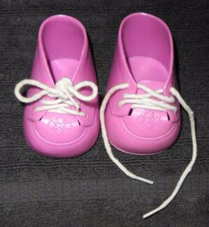 MY CHILD DOLL OR CABBAGE PATCH KIDS PAIR OF PINK LACE UP SHOES Thornlie Gosnells Area Preview