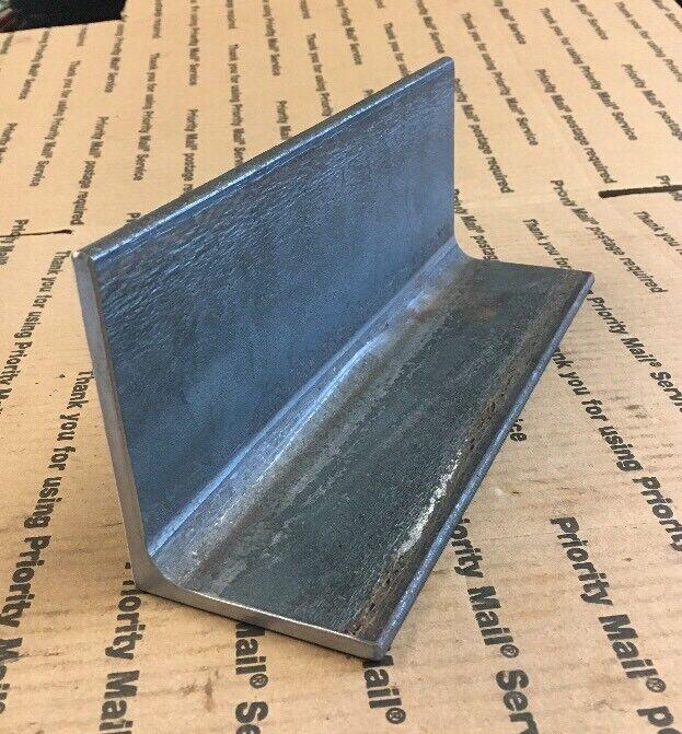 "3 X 4 Steel Angle Iron Welding Bracing Bracket Shelf 1/4"" THICK 10"" Long"