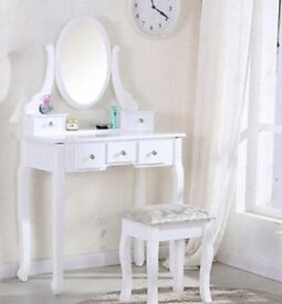 White dressing table for sale,had for approx a year.In good condition,already built.